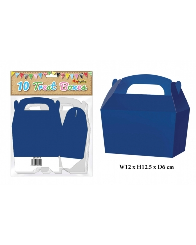 10 x Blue Party Treat Boxes 10 pk