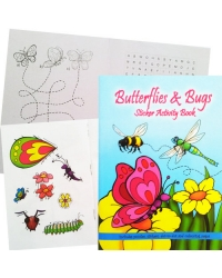 Image of 24 x Bugs & Butterflies Sticker Activity Books
