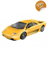 Image of 100 x Large Yellow Sports Car Tattoos
