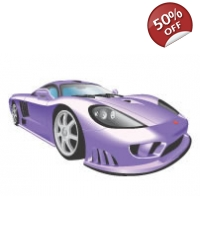 Image of 100 x large Purple Sports Car Tattoos
