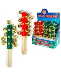 8 x Wooden Christmas Jingle Sticks