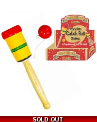 Image of 12 x Wooden Cup & Ball Catch Games