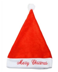 Image of 12 X Deluxe Embroidered Santa Hats