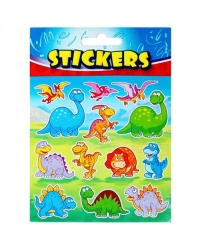 Image of 72 x Sheets of Dinosaur Stickers
