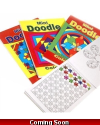 Image of 24 x A6 Mini Doodle Colouring Books