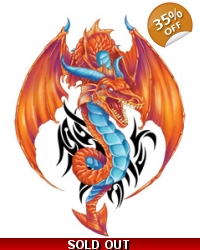 Image of 100 x Large Red Dragon Tattoos