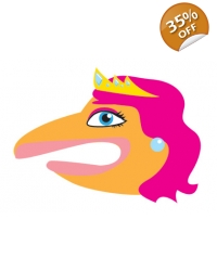 Image of 100 x Princess Hand Puppet Tattoos