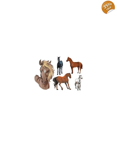 100 x Large Horse & Pony Tattoos