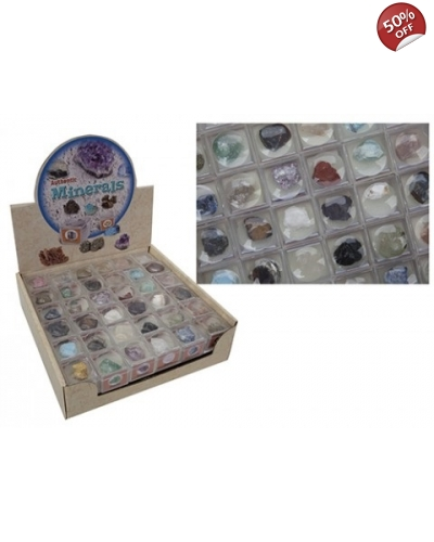 72 x Mineral Rocks in Magnifyer Cases