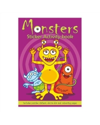 24 x Monster Sticker Activity Books