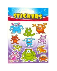 Image of 72 x Sheets of Monster Stickers