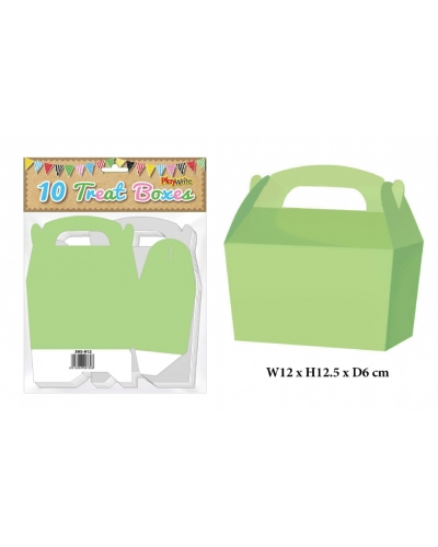 10 x Neon Green Party Treat Boxes 10 pk
