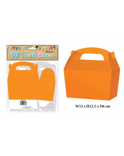 10 x Orange Party Treat Boxes 10 pk