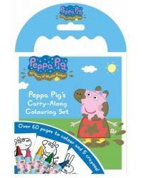 Image of 12 x Peppa Pig Carry Along Colouring Sets
