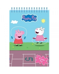 Image of 12 x Peppa Pig A5 Notepad Wiro Scribble Pads