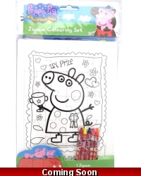 Image of 12 x Peppa Pig Jigsaw Colouring Sets