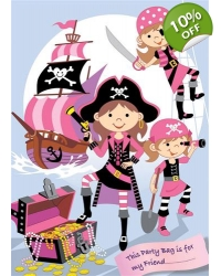 Image of 100 x Pink Pirate Party Bags
