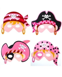 Image of 72 x Foam Pink Pirate Masks
