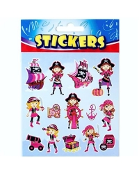 Image of 72 x Sheets of Pink Pirate Stickers