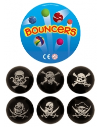 Image of 100 x Pirate Bouncy Balls 35mm