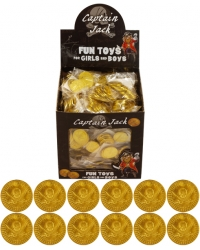 Image of 84 x Packs of 12 Gold Pirate Coins