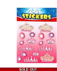 72 x Princess Stickers