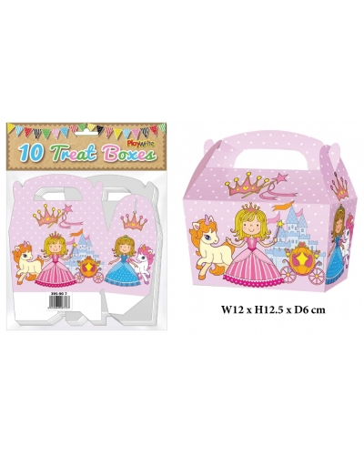 10 x Princess Party Treat Boxes 10 pk