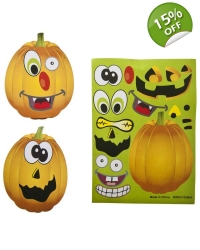 Image of 12 x Halloween Pumpkin Sticker Sheets