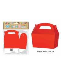 Image of 10 x Red Treat Boxes 10 pk