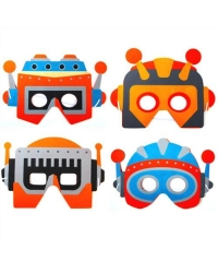 Image of 72 x Foam Robot Masks