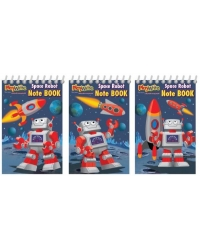 Image of 120 x Space Robot Notebooks