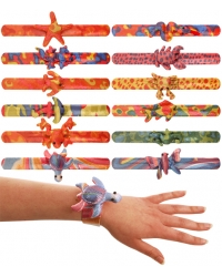 Image of 12 x Fabric Animal Snap Bracelets