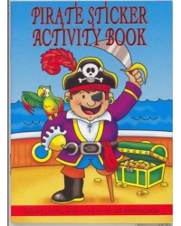 24 x Pirate Sticker Activity Books