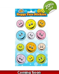 72 x Sheets of Smiley Stickers