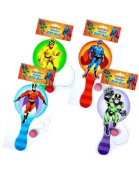 Image of 24 x Wooden Super Hero Paddle Bats