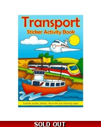 Image of 24 x Transport Sticker Activity Books