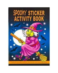 Image of 24 x Halloween Spooky Sticker Activity Books