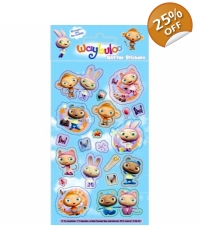 Image of 12 x Waybuloo Foil Sticker Sheets