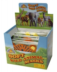 24 x Foam Jungle Animal Masks