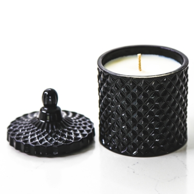 Apple Cinnamon Soy Candle Luxe Noir