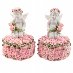 Rose Cherubs - Rose Trinket ..