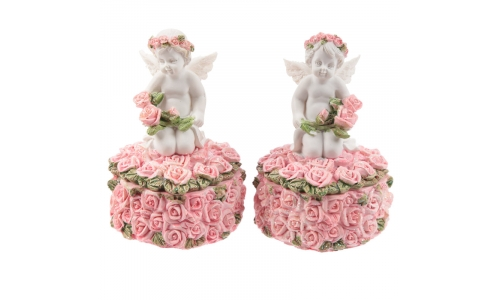 Rose Cherubs - Rose Trinket Box