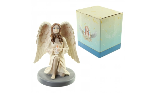 Candle Reflection Guardian Angel Figurine