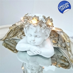 LED Cherub Head on Arms
