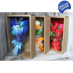 Boxed Soap Flower Bouquet