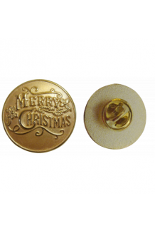 1 INCH MERRY CHRISTMAS LAPEL PIN
