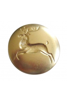 3/4 REINDEER BRASS LAPEL PIN