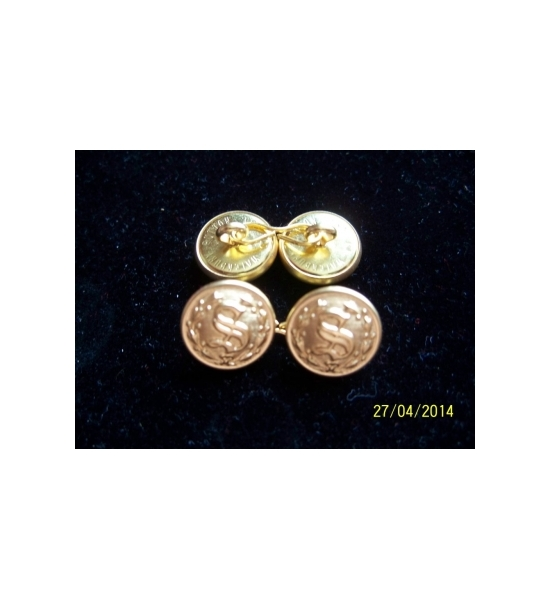 "5/8 TWO SIDED ""S"" CUFF LINK SETS"