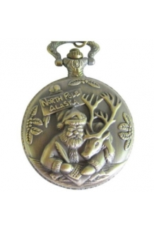 SANTA POCKET WATCH WITH CHAIN