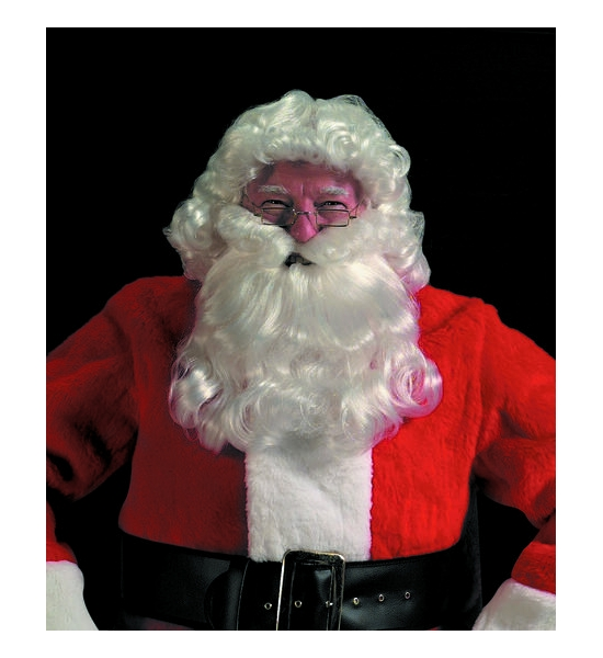 Deluxe Santa Curly Wig & Beard Set